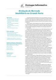 Destaque Informativo   Mercado Imobiliário - Câmara Municipal do ...