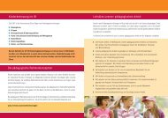 Flyer zur Kinderbetreuung im IB - Internationaler Bund
