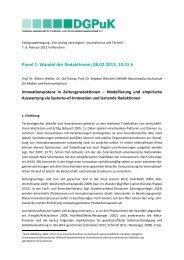 Abstract - Von analog nach digital - Journalismus und Technik