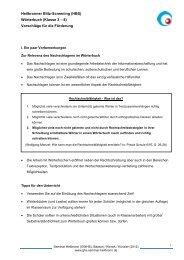 Heilbronner Blitz-Screening (HBS) Wörterbuch (Klasse 3 – 8 ...