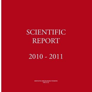 SCIENTIFIC REPORT 2010 - 2011 - IOV