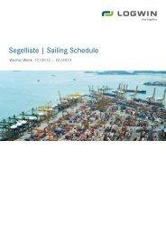 LCL Export Sailing Schedule/ valid week 17 until ... - Logwin Logistics