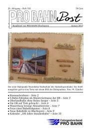 Seite 2 • S-Bahn-Fahrplan als Manövriermasse der DB ... - Pro Bahn