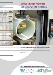 Schlauchliner-Prüfung: Die Qualität ist messbar (pdf, 164KB) - SBU