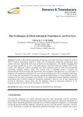 Bio-Techniques in Electrochemical Transducers: an Overview - Page 5