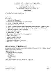 Assemblée générale annuelle 2011 - Association de soccer de ...