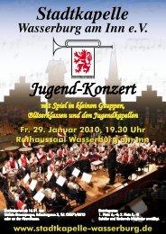 Jugend-Konzert Stadtkapelle - Stadtkapelle Wasserburg am Inn eV