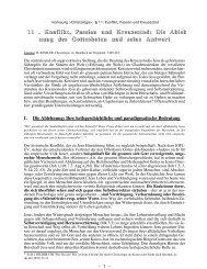 Konflikt, Passion und Kreuzestod Jesu - Theologie-Skripten
