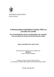 A Polineuropatia Amiloidótica Familiar (PAF) no ... - Ubi Thesis