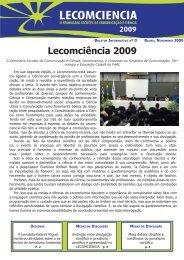 Boletim Lecomciência 2009 - Unesp