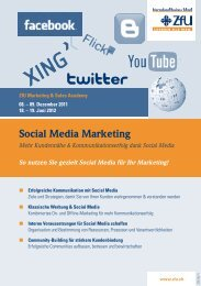 Social Media Marketing - ZFU International Business School
