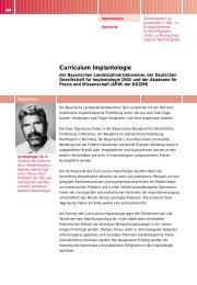Curriculum Implantologie - Bayerische Landeszahnärztekammer