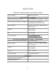 CBD Thematic Report on Forest Ecosytems - Panama (Spanish ...