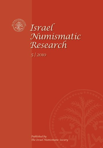 Israel Numismatic Research - Institute of Archaeology