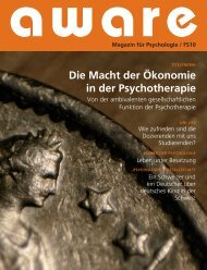 aware-Ausgabe FS10 - aware – Magazin für Psychologie