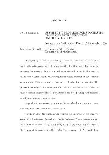 Thesis - Applied Mathematics