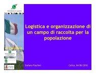 Logistica e organizzazione di un campo di raccolta