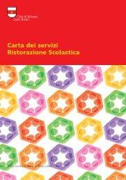 Carta dei servizi Ristorazione Scolastica - Comune di Bolzano