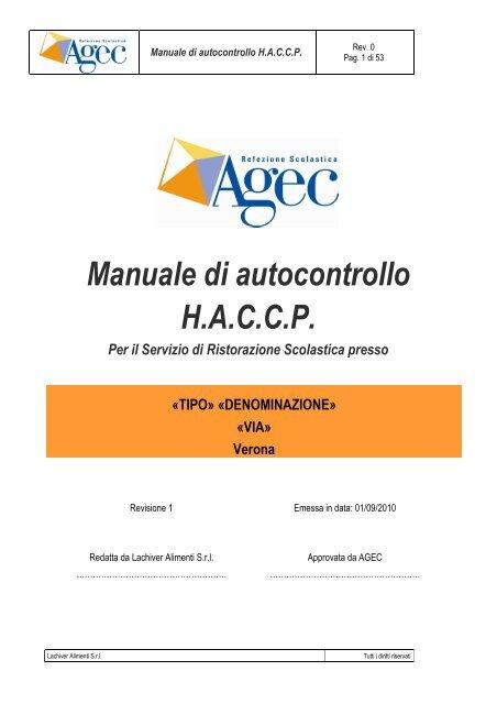 manuale haccp da