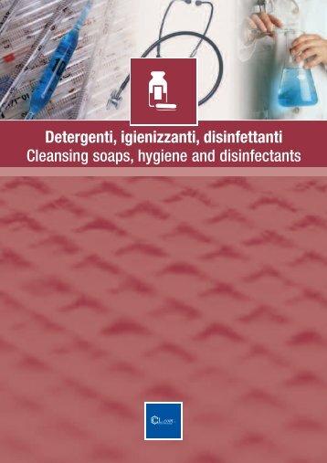 Detergenti, igienizzanti, disinfettanti Cleansing soaps, hygiene and ...