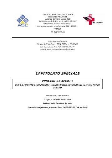 CAPITOLATO SPECIALE - Fare