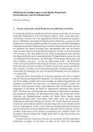Politologische Annäherungen an die digitale Demokratie – Ein ...