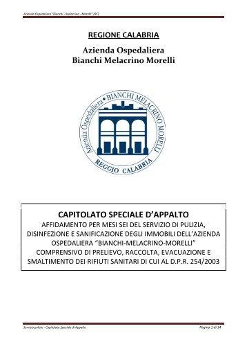 CAPITOLATO SPECIALE D'APPALTO - Fare