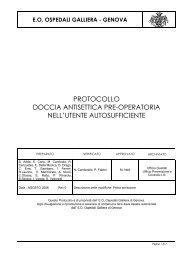 protocollo doccia antisettica pre-operatoria nell ... - Ospedale Galliera