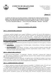 AVVISO GARA PROCEDURA APERTA - CAPITOLATO - REFEZ ...