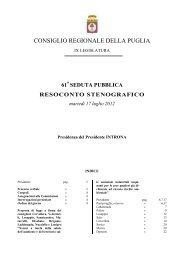 Stenografico - INTRANET - Consiglio regionale della Puglia