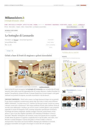 Le botteghe di Leonardo - Milano | Milanodabere.it