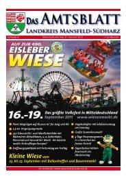 Ausgabe 8 Erscheinungstag - Landkreis Mansfeld-Südharz
