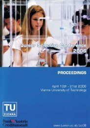 Proceedings of the Junior Scientist Conference 2006