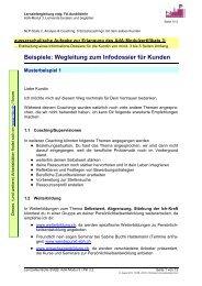 Lernzielkontrolle Modul 3 / Punkt 3 - NLP Akademie Schweiz