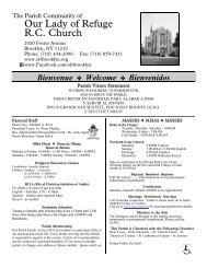 September 09, 2012 - Our Lady of Refuge Church
