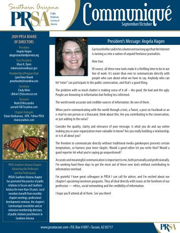 September/October - PRSA Southern Arizona Chapter