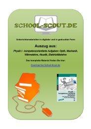 Physik I - kompetenzorientierte Aufgaben: Optik ... - School-Scout