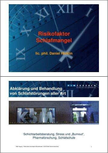 Risikofaktor Schlafmangel - Swissi