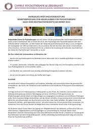 Infoabend Ausbildung Heilpraktiker Psychotherapie - Therapeuten