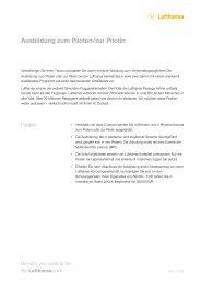Ausbildung zum Piloten/zur Pilotin - Be-Lufthansa.com