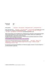 Gutachtenauftrag BK 1315/4301/4302 - Deutsche Gesetzliche ...
