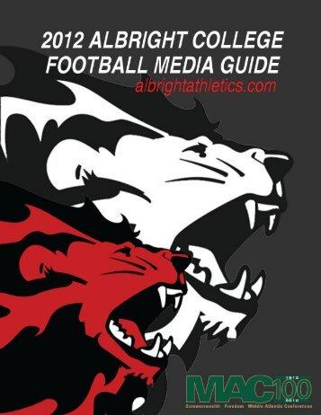 2012 Media Guide - Albright College Athletics