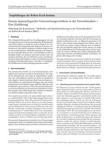 Einsatz immunologischer Untersuchungsverfahren in der ... - Ecomed