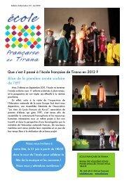 Newsletter 2_EFT_Juin 2012.pdf - Ecole Française de Tirana