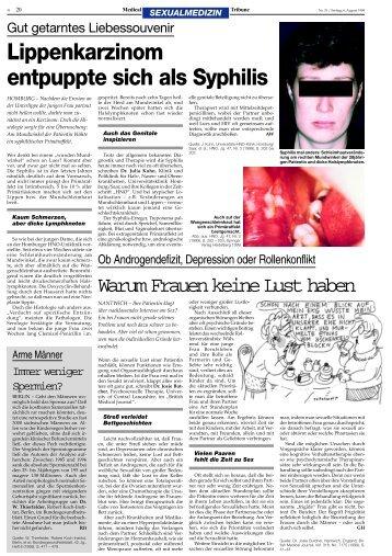 Lippenkarzinom entpuppte sich als Syphilis - longlife.medical ...