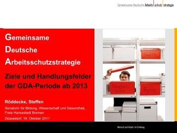Die Ziele und Handlungsfelder der GDA-Periode ab 2013 (PDF ...
