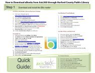 Quick Guide: - Harford County Public Library