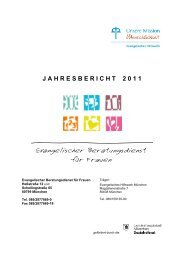 J A H R E S B E R I C H T    2 0 1 1 - Evangelisches Hilfswerk München