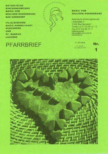 PFARRBRIEF