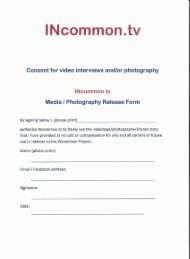 Consent for media interviews and/or photography - INcommon